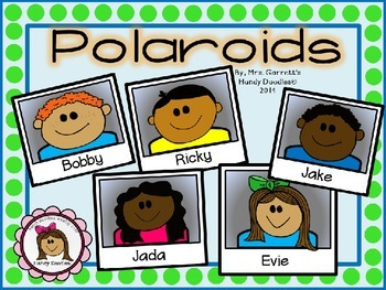 Clipart - Kid Faces Polaroids