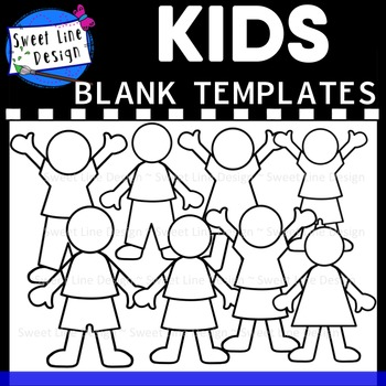 Clipart - Kid Templates {Sweet Line Design}