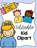 Editable Clipart Kids