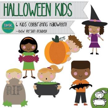Clipart- Kids- Halloween