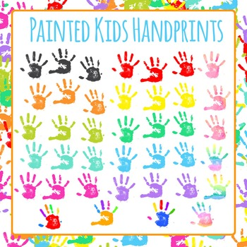 Handprints - Fun with Paint! Clip Art Set for Commercial Use