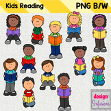Clipart Kids: Reading