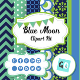 Social Icons, Digital Papers, Frames,  Labels, Bunting