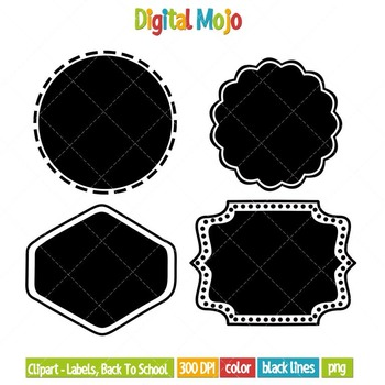 Clipart – Labels, Back to School