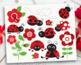Clipart - Ladybug Garden (red)