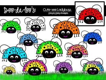 Clipart - Ladybugs - digital download - Doo-da-loo's!