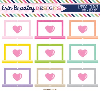 Clipart - Laptops with Hearts