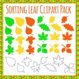 Leaf Shape Clip Art Set for Sorting - Commercial Use Clip Art Pack