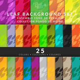 Clipart Leafs Background 25 Colors Hi-Res jpg files - Fond