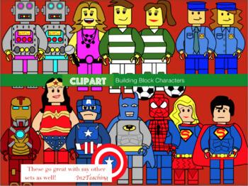 Clipart: Building block characters