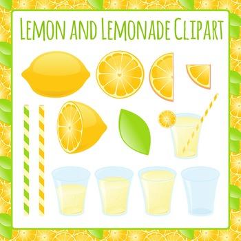 Lemons and Lemonade Clip Art Pack for Commercial Use