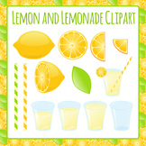 Lemons and Lemonade Clip Art Pack for Commercial Use