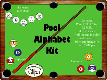 Clipart ~ Let's Play Pool Alphabet