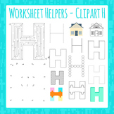 Letter H Worksheet Helper Clip Art Set For Commercial Use
