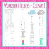 Letter I Worksheet Helper Clip Art Set For Commercial Use