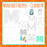 Letter M Worksheet Helper Clip Art Set For Commercial Use