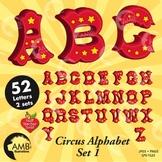 Circus Letters, Carnival Alphabet Clipart, { Best Teacher Tools} AMB-1161