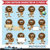 Clipart – Lion Cartoon Character