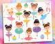 Clipart - Little Ballerinas / fairy princess