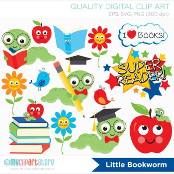 Clipart - Little Book Worm