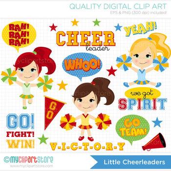 Clipart - Little Cheerleaders / sport
