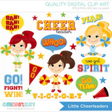 Clipart - Little Cheerleaders / sport