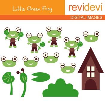 Clipart Little Green Frog