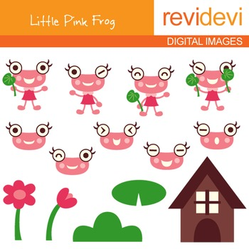 Clipart Little Pink Frog