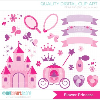 Clipart - The Flower Princess