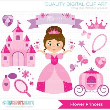 Clipart - The Flower Princess