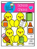 Clipart - Little School Chicks