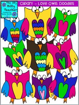 Clipart- Love Owl Doodles