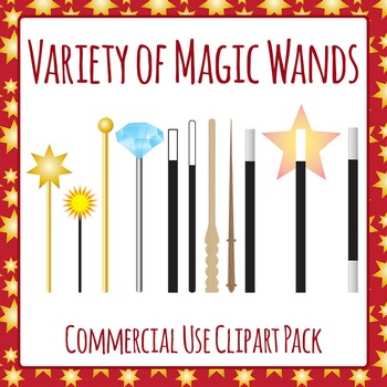 Magic Wands Clip Art Pack for Commercial Use