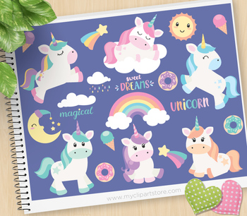Clipart - Magical Unicorns
