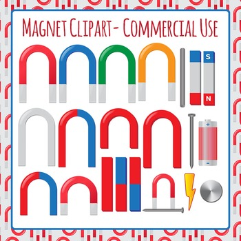 Magnets Clip Art Set for Commercial Use