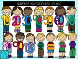 Clipart- Math Number Kid Doodles 10-100