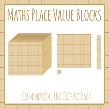 Maths Blocks / Place Value Visualization Blocks Commercial Clipart