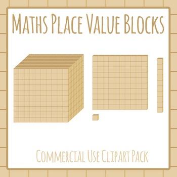 Maths Blocks / Place Value Visualization Blocks Commercial Clipart