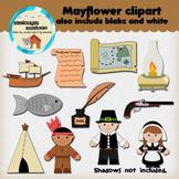 Clipart: Mayflower - ship - pilgrim - Native American