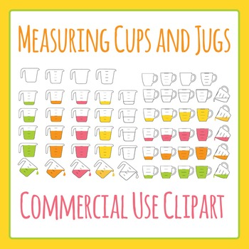 Measuring Cup Clipart and Measuring Jug Clipart Commercial Use Clip Art