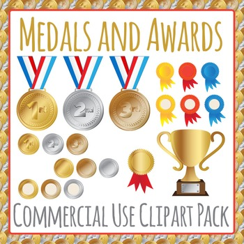 Medals and Awards Commercial Use Clipart Pack
