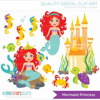 Clipart - Mermaid Princess