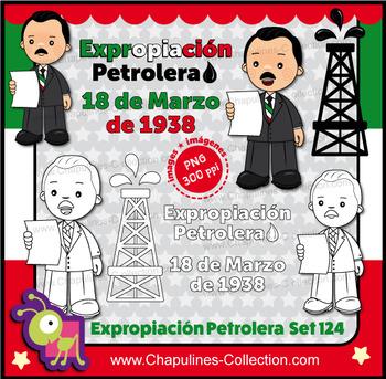 Expropiación Petrolera en México / Clipart Mexican Oil Exp