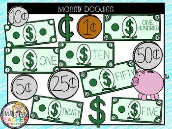 Clipart - Money Doodles