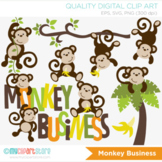 Clipart - Monkey Business (Boy)