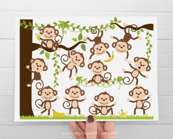 Clipart - Monkey Around