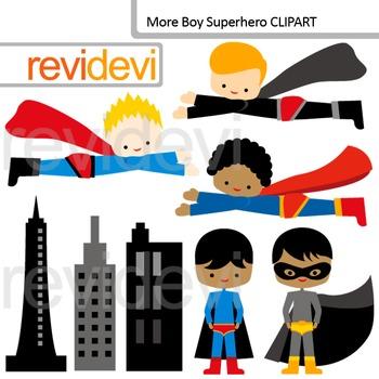 Clipart More Boy Superhero - Flying, standing superhero