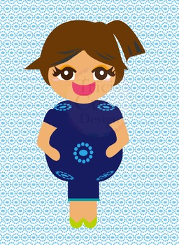 Clipart - Mother Pregnant Women Lady Girl People Human Character