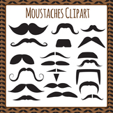 Moustaches Clip Art Pack for Commercial Use