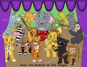 Clipart: Musical Jungle Animals